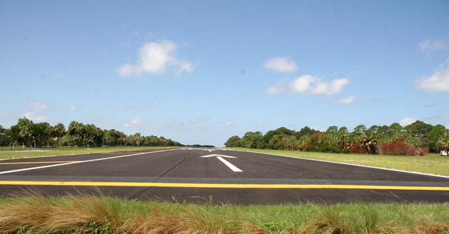 Looking westerly down the airstrip
