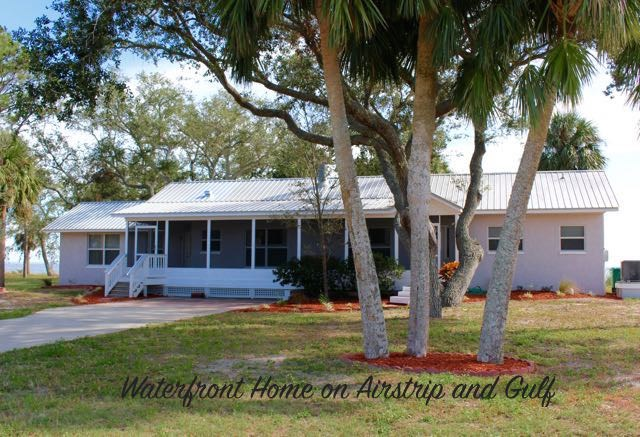 Gulf-front Home at Cedar Key Airport
