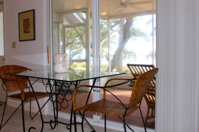 Dining Area overlooks the Gulf