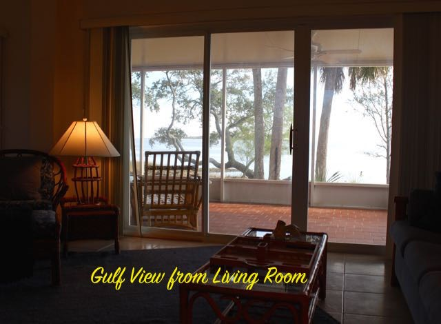 Gulf view from Living Area