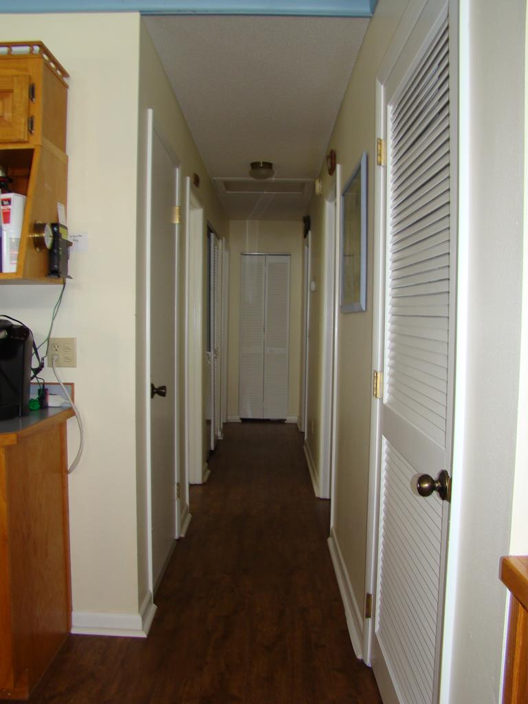 Hall to bedrooms and indoor elevator