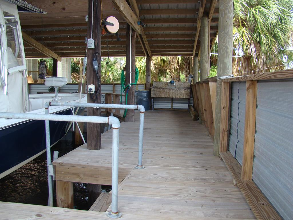 deck and steps to boat