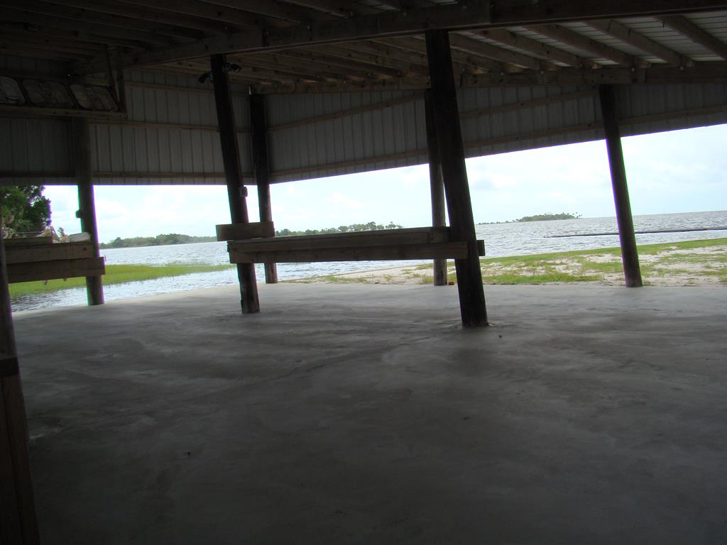 entertainment area under boat house
