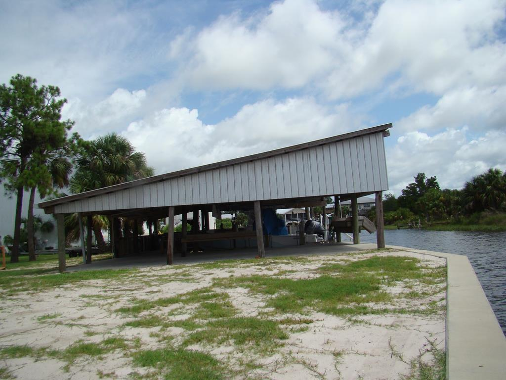boat house and concrete seawall