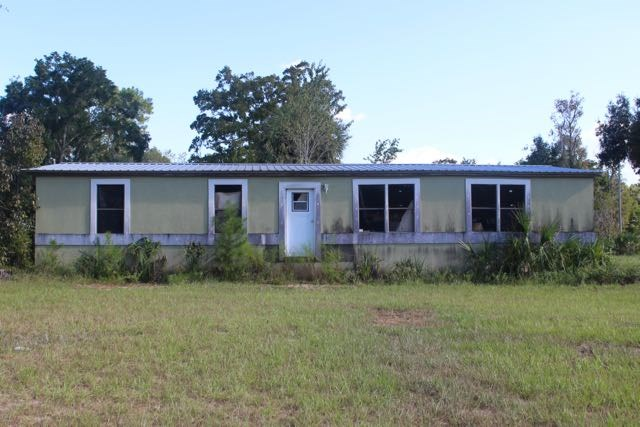Front of old mobile home