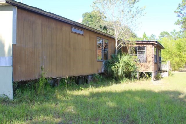 Back of old mobile home