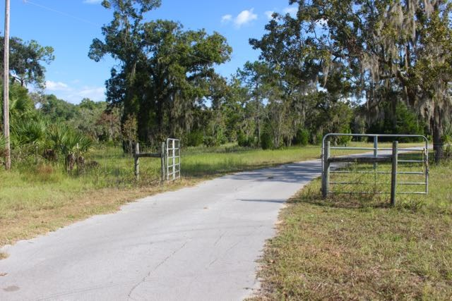Gate into the south 7.5 acres of the parcel.