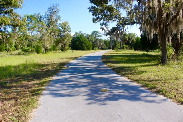 Private easement road through the property