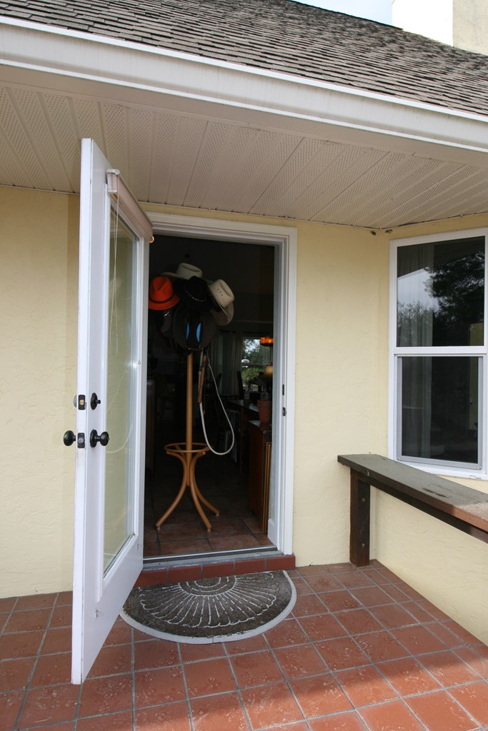 Side Entry Door and Porch