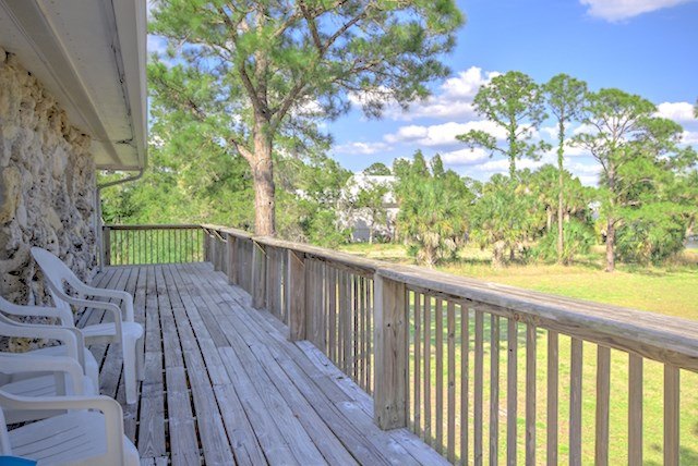 Deck along South Side overlooks Gulf
